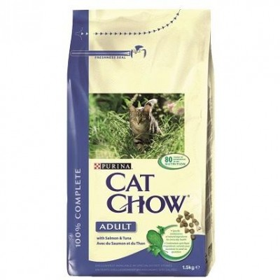 CAT CHOW ADULT SALMON 1.5KG.