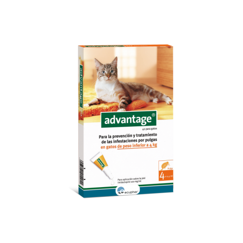 ADVANTAGE 40 GATO INFERIOR A 4 KG