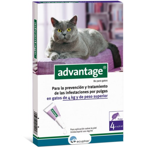 ADVANTAGE 80 GATO 4 KG Y SUPER