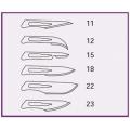 HOJA PARA BISTURI. N. 22 - 100 unidades