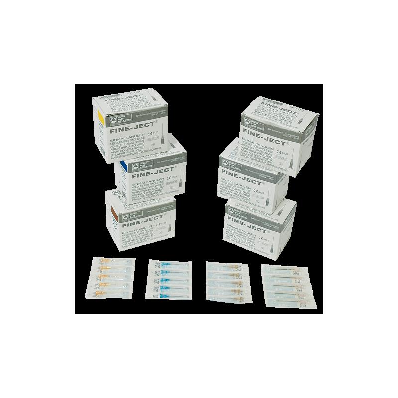 AGUJAS DESECHABLES FINE-JECT. CONO LUER LOCK DE PLASTICO - 25X16 (100 uds.)
