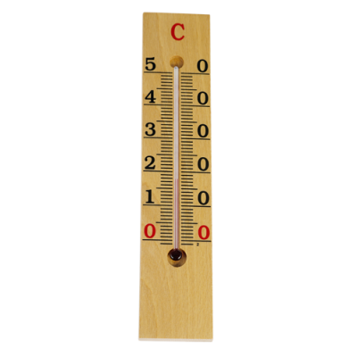 TERMOMETRO AMBIENTE MADERA - 26 cm